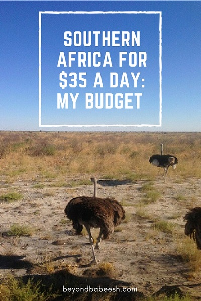 How much money I spent in Africa