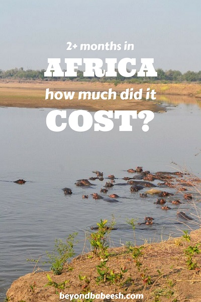 how much i paid to travel in africa