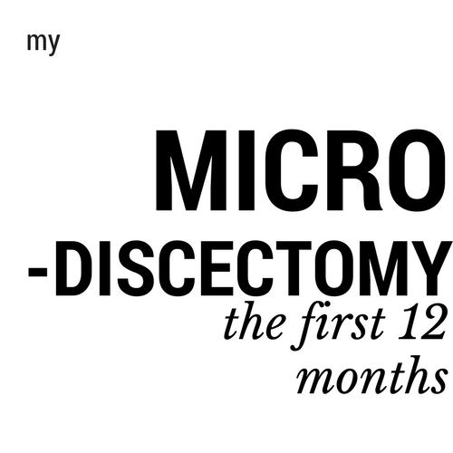 one year after microdiscectomy