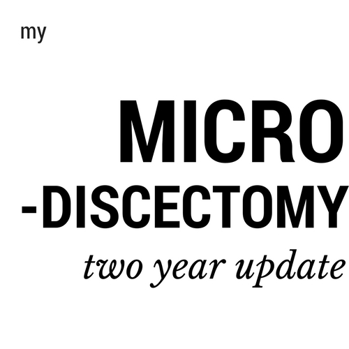 two years after microdiscectomy