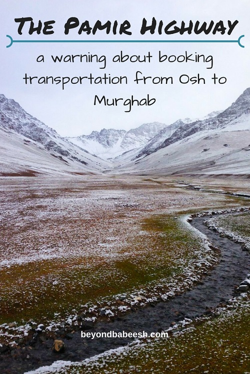 transportation from osh to murghab