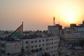 Ramallah Center Sunset