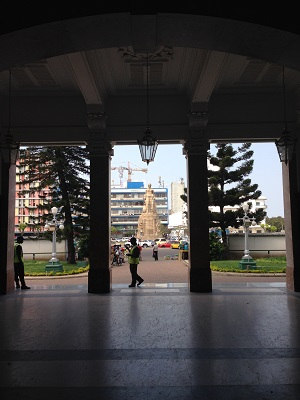 Inside the train station in Maputo
