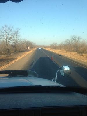 hitchhiking to botswana