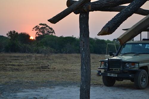 kafue sunset zambia