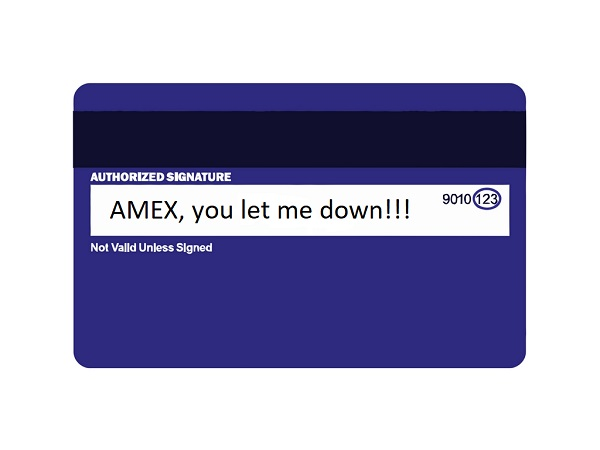 traveling with an american express credit card