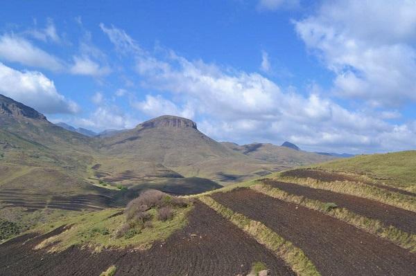 lesotho countryside near semonkong