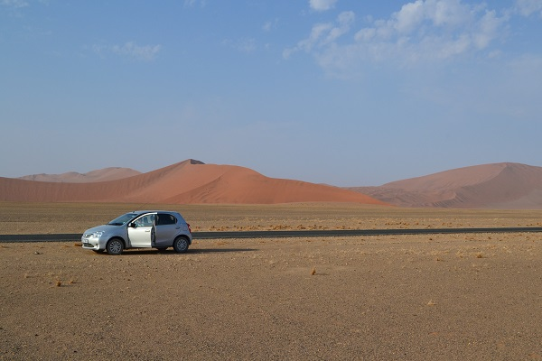 Rental car on a budget to go to sossusvlei namibia
