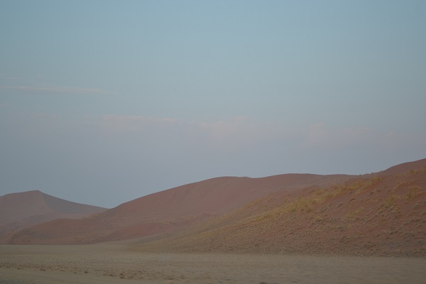 the red dunes at dawn