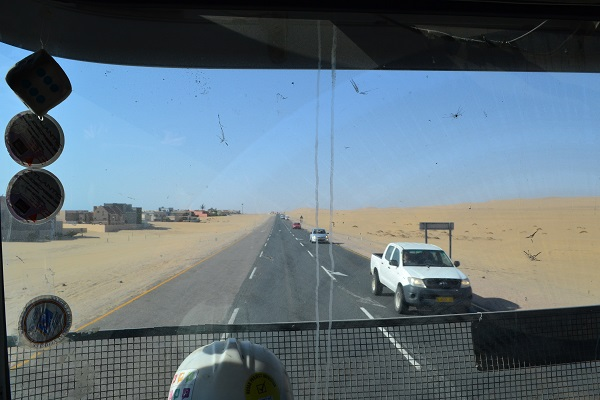 hitchhiking in namibia swakopmund