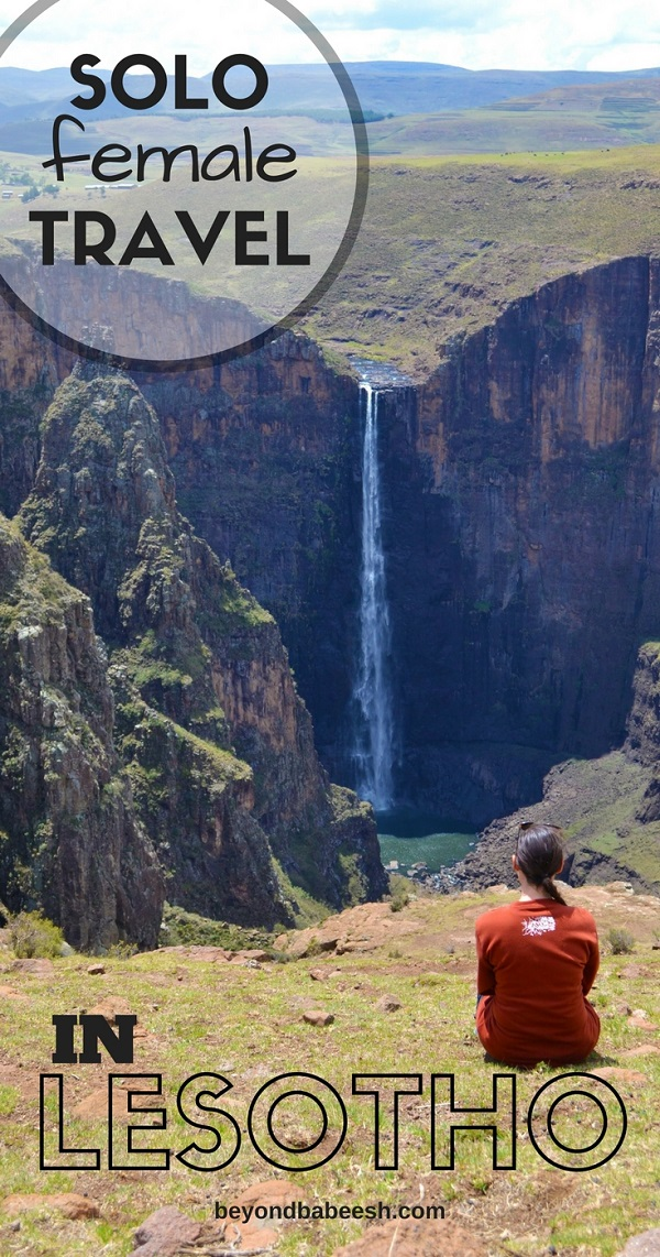 woman travels alone to lesotho