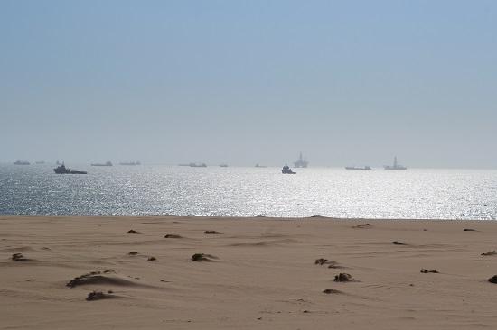 swakopmund beach atlantic namibia