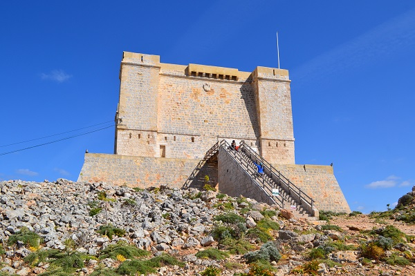 fortress on island of Comino Malta