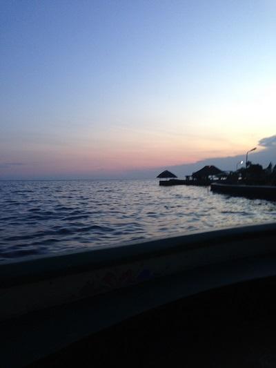 Lake victoria uganda at dusk