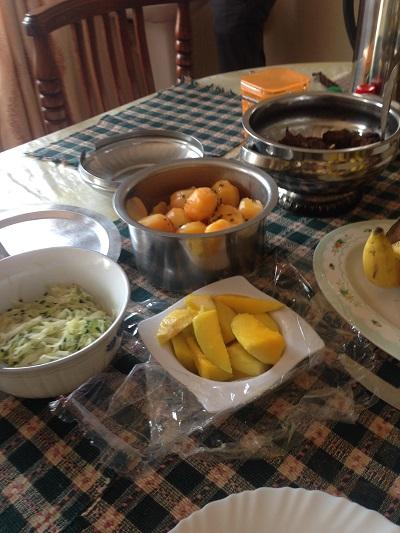 lunch in Uganda