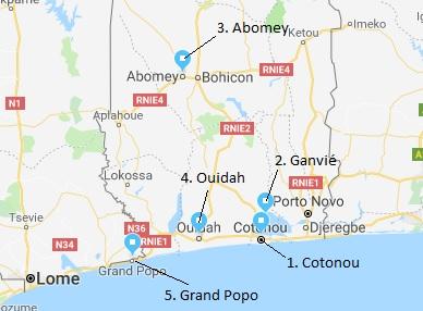 One week itinerary Benin