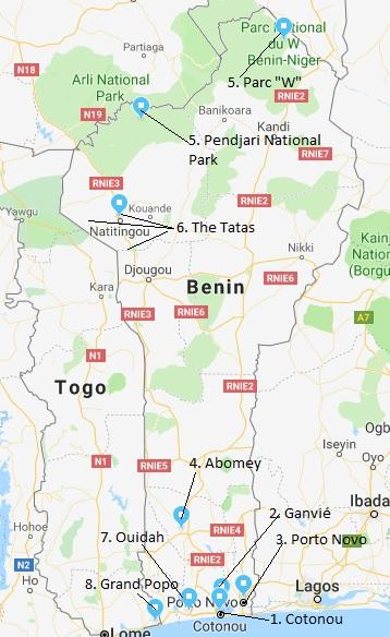 two week itinerary Benin
